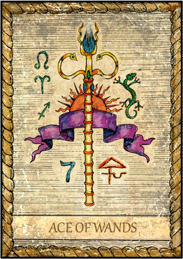 Tarot Card - Ace of Wands