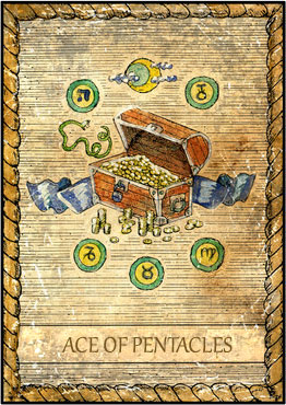 Tarot Card - Ace of Pentacles