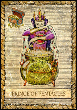 Tarot Card - Prince of Pentacles