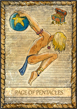Tarot Card - Page of Pentacles