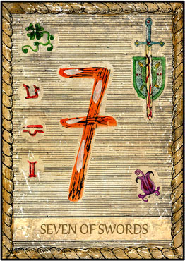 Tarot Card - 7 of Swords