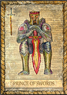 Tarot Card - Prince of Swords