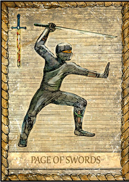 Tarot Card - Page of Swords