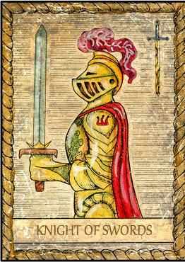 Tarot Card - Knight of Swords