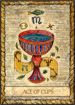 Tarot Card - Ace of Cups
